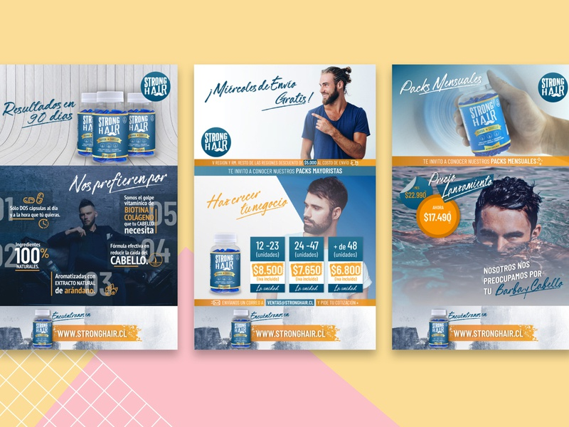 Mailing | StrongHair mailing branding design