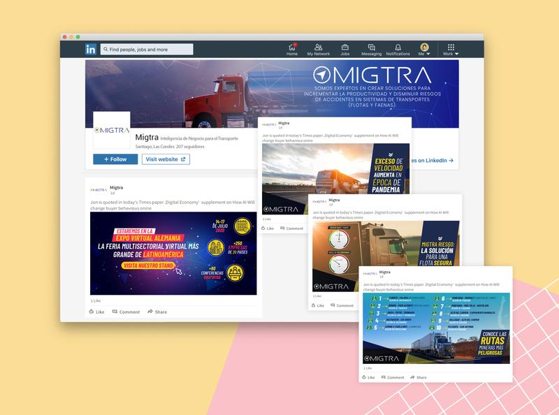 LinkedIn Publicaciones | Migtra linkedin socialmedia rr.ss design
