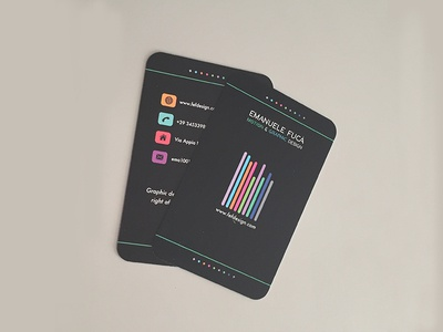 Business card // fefdesign 2018 graphic design business card