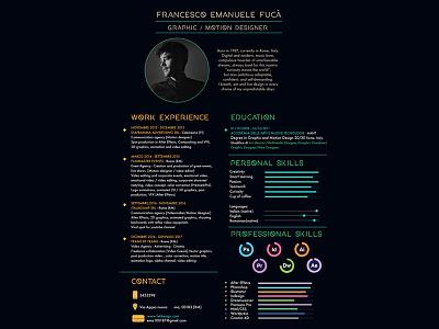 Curriculum vitae // Design infographic geometry minimal graphic design cv