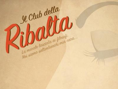 Il Club della Ribalta logo - poster design