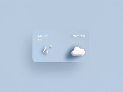 IOS Weather Visual Concept animation illustration mobile product 3d weather ios apple clean app ui design