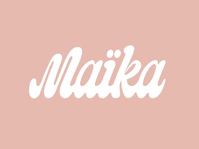 Maika graphic design typography coffee cream type