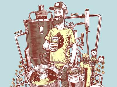 Craft Beer illustration digitalart