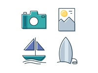 Simple Travel Icons