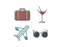 Simple Travel Icons 2