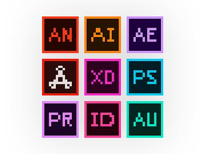 8-Bit Adobe Icons icons 8-bit adobe