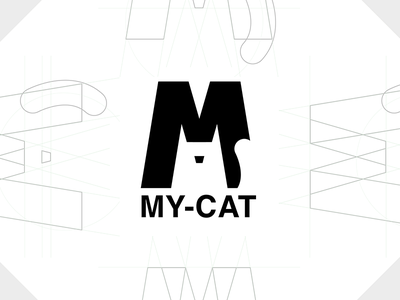 Negative Space Logo cat my logo space negative