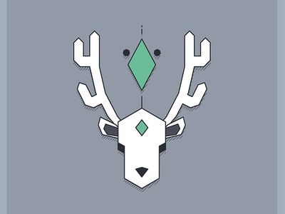 Geometric Deer design graphic deer geometric