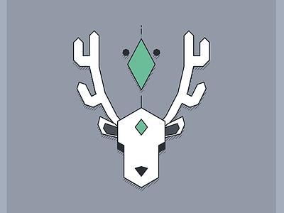 Geometric Deer design graphic deer geometric