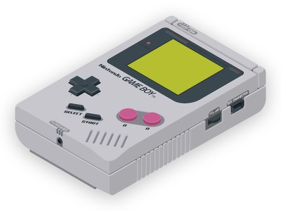 Isometric GameBoy gameboy vector illustration artwork isometric nintendo