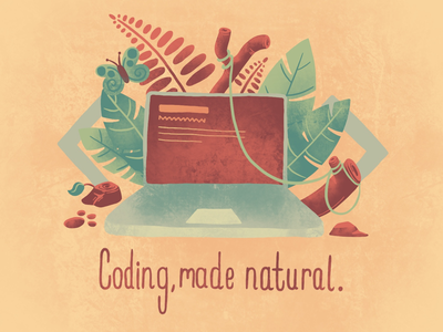 Coding, made natural. procreate illustration
