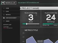 Modulus Beta Dashboard