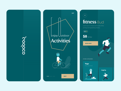 Fitness App hand lettering activities gym running product design uidesign uiux user experience design best design studio in india best design studio design studio mobile app fitness app fitess hogoco illustration design