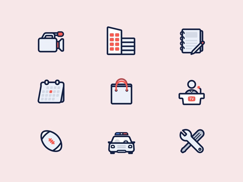 A bold iconset - Mobile Viewpoint icon design icons icon set branding