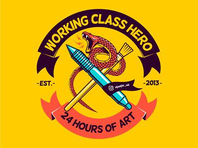 WORKING CLASS HERO adobe illustrator clothing design design characterdesign vector illustration