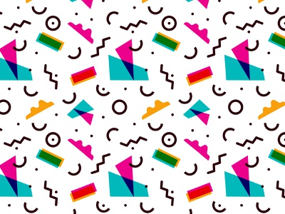 Abstract Memphis and Pop Art Color Seamless Pattern design memphis pop art fabric pattern seamless fashion branding clothing design design inspiration vector illustration