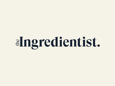 Final Wordmark for The Ingredientist consulting logo beauty industry clean beauty navy graphic design gt super type logo branding