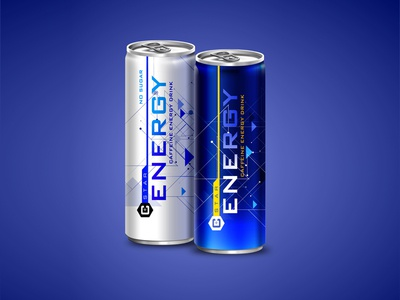 C+Star Energy drink can design