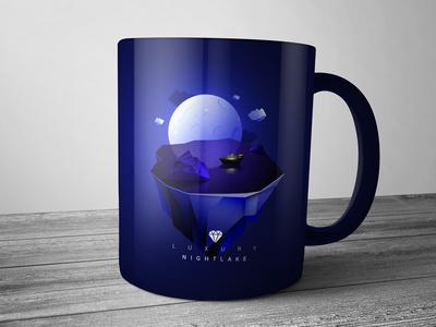 Luxury Hotel cup illustration design.