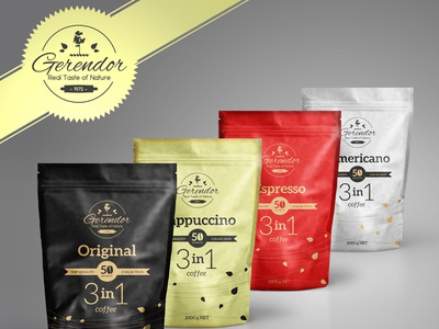 Coffee brand package design.