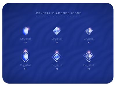 Crystal Diamonds Icons