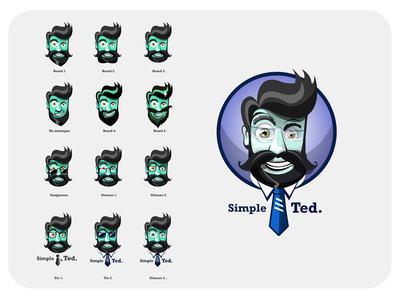 Simple Beard Illustration logo design
