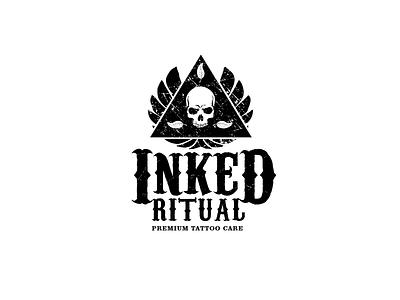 Tattoo salon grungy, textured logo art branding graphic amazing logo dark logo powerful logo tattoo master skulls black and white old logo tattoo logo tattoo art tattoo shop logo texture grunge skull