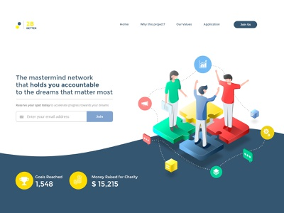 Landing page Illustration design blue minimal elegant vector graphic webdesigner isometric illustration isometric art social media design network illustrations networking community illustrations community logo illustrations landing page landing design