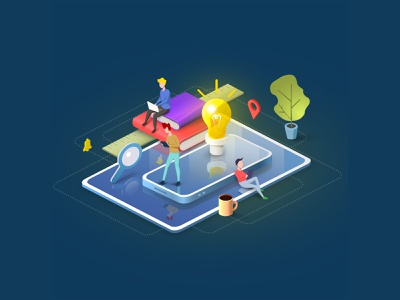 Community Isometric People Illustration illustration vector art graphic office design collaborative sweet design material design isometric illustration people illustration illustration art colorful isometric people community illustrator