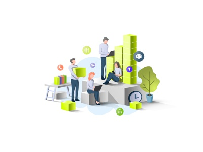 Team Work Community Illustration People Isometric golden people icons new image isometric illustration illustration vector isometric design flying icons illustration digital collaboration office design color palette teamwork people illustration isometric