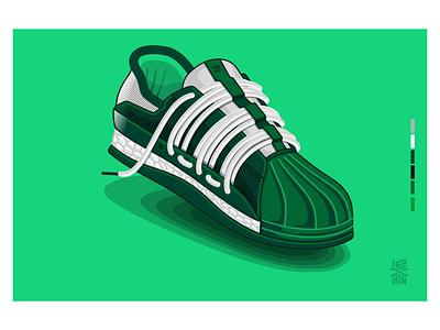 Adidas Superstar CTNY vector art illustration footwear design adidas adidas originals