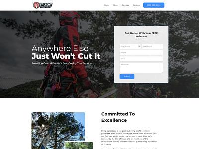 Anderson Tree Care | OcalaArborist.com web minimal design branding ui ux web design