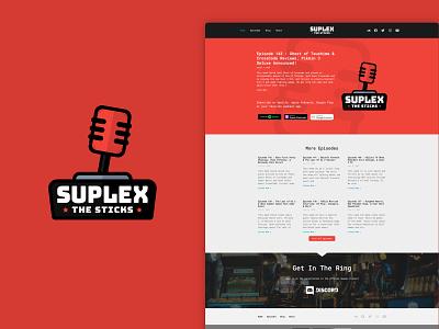 Suplex The Sticks website flat ui web design web ux minimal design branding