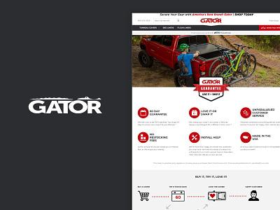 Gator Covers - Warranty Page website flat web design web ui ux minimal design branding