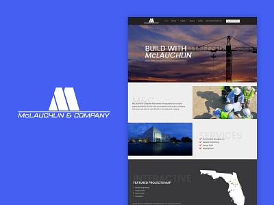 McLauchlin and Company website flat ui web design web ux minimal design branding