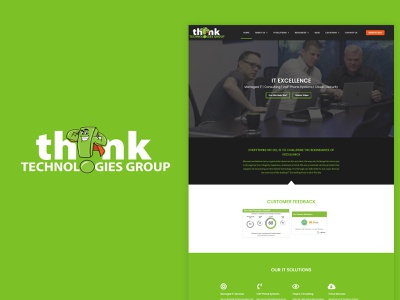 Think Technologies Group website flat web design web ui ux minimal design branding