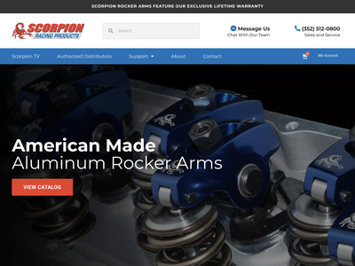 Scorpion Racing Products ecommerce web design web ux ui design branding