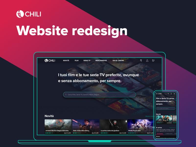 Chili website redesign | master project work 2018 chili web design webdesign ux design ui design streaming shop responsive movie ecommerce cinema website design ui
