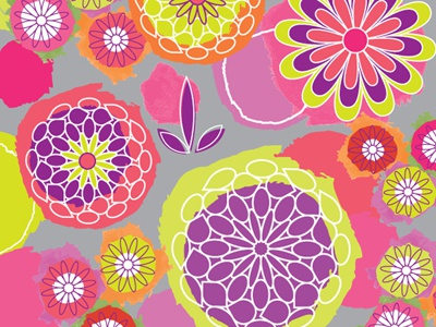Flower Power Pattern illustration pattern vector