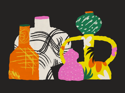 Vases design illustration