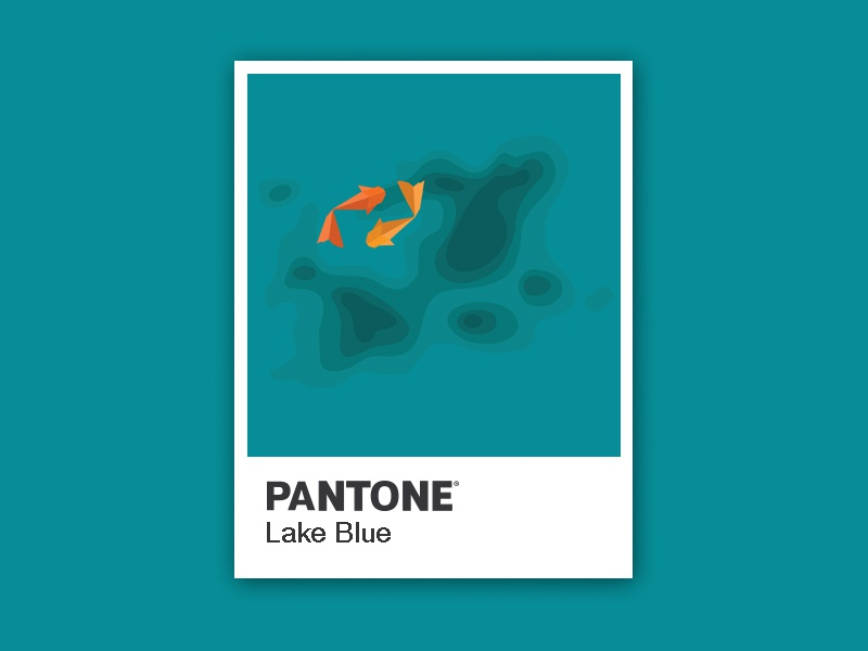 Pantone Objects Lakeblue Koi Pond Color Chips Ilration Icons