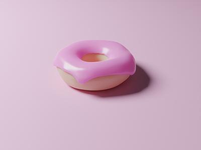 Materials and Lighting: 3D Doughnut 3d modeling pink donut 3d doughnut doughnut modelling render materials blender3d blender 3d art 3d