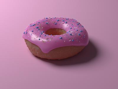 3D Doughnut with Sprinkles blender3dart blender3d blender lighting modelling 3d rendering 3d render 3d modeling render bump and displacement texture sprinkles particles doughnuts doughnut 3d artist 3d art 3d