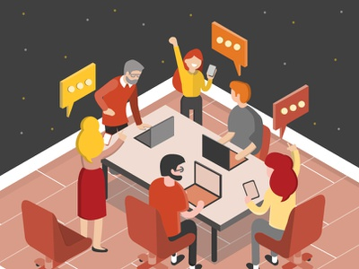 Flipped Classroom flat icon vector design illustration