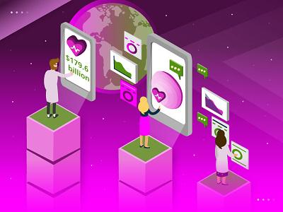 Is Digital Health the Future of Healthcare? digital health healthcare digital flat  design isometric art adobe illustrator illustration vector design