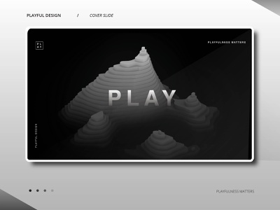 PLAY volume 01 animation 3d animation 3d art 3d presentation layout presentation design presentation black and white minimal design