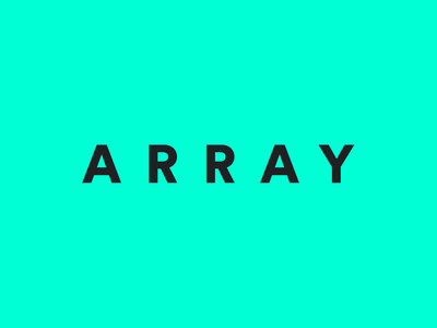 ARRAY Logo augmented reality ar clean simple tracking gray slate green wordmark visual identity branding agency branding design logo branding