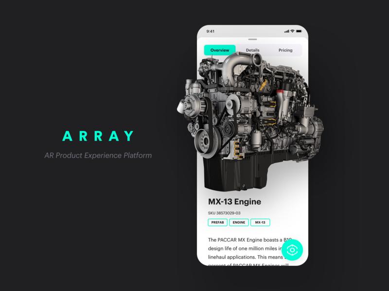 ARRAY Mobile App - Augmented Reality platform iphone ios app augmented reality ar project branding array