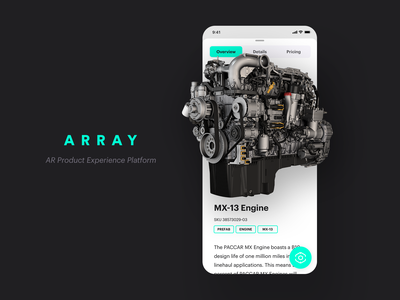 ARRAY Mobile App - Augmented Reality platform iphone ios app augmented reality ar project branding array